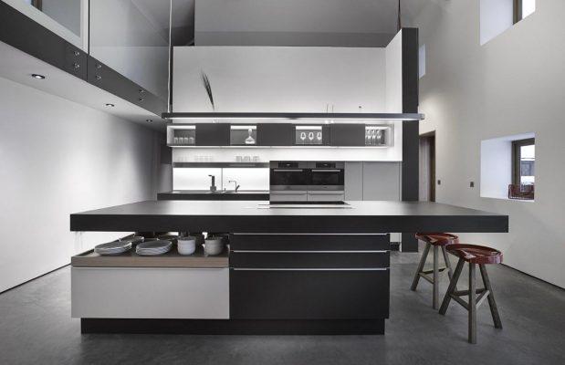 Dapur Monochrome sumber Rumah Minimalis