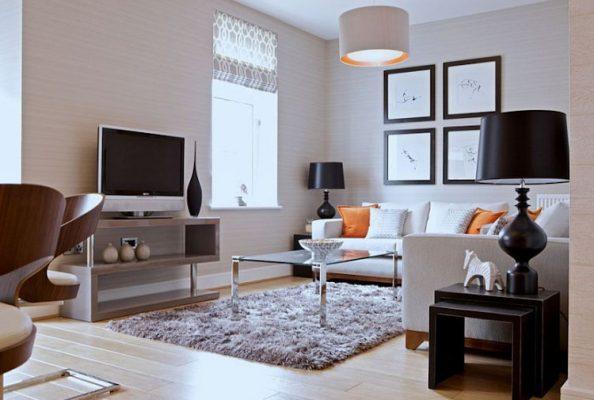 Ruangan dengan tv minimalis