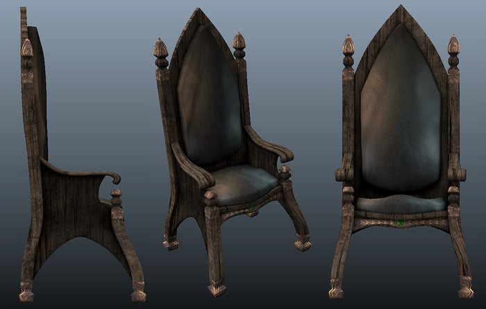 Gothic Chair sumber Secondlife Marketplace